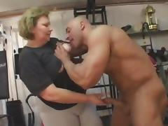 fat granny does anal in the gym tube porn video