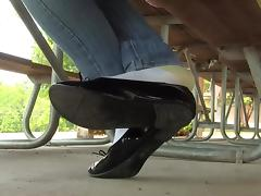 Jasmine black flats shoeplay in socks PREVIEW tube porn video