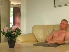 Hawt German Golden-Haired  immature Non-Professional double penetration Trio tube porn video
