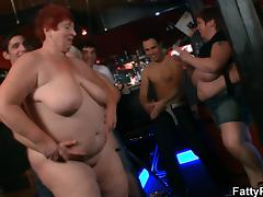Funny big tits party in the bar tube porn video