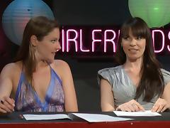 Dana Dearmond and Samantha Ryan host a pornstar talk show tube porn video