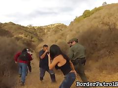 Mexican immigrant gets fucked outdoors by the border police tube porn video