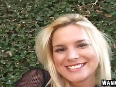 Shiny latex boots are slutty on the hardcore blonde tube porn video