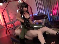 Hot Asian mistress Electro torture and faceslapping tube porn video