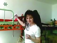Ponytailed russian girl blows and dryhump rides her bf's cock pov in her bedroom tube porn video