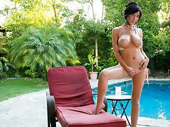 Diana Prince in Poolside Masturbation Scene tube porn video