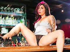 Joanna Angel & Bill Bailey in Bar Stripper Scene tube porn video