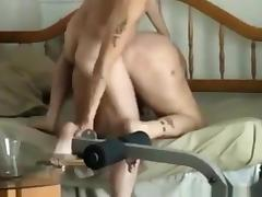 Skinny guy fucks this bbw anally. her pussy is too loose to feel anything. tube porn video