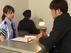 Japanese uniform fun with a lady cop having fun with dicks tube porn video