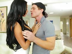 Hot milf pornstar Anissa Kate blows for a cumshot tube porn video