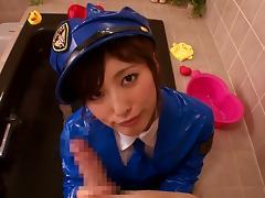 tokyo police babe jerks me off tube porn video
