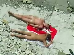I love spying on sex-starved couples on the nude beach tube porn video