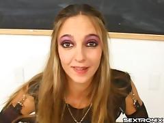 Guys teach her how to be a good deepthroat cocksucker tube porn video