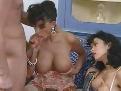 Sarah Young and Tabatha Cash FFM tube porn video