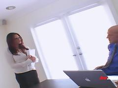 Very busty MILF in glasses likes hardcore sex with rough men tube porn video
