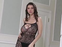Sexy Lingerie Lina's saggy bouncing titties tube porn video