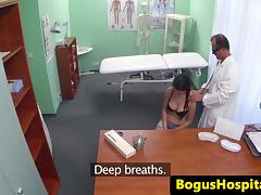 Fingerfucked patient swallows drs medicine tube porn video