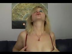 Hungarian mature blonde Tunde (Jennyfer) fucked by old man tube porn video
