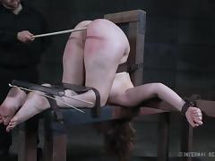 harley's ass is inverted, whipped and caned tube porn video