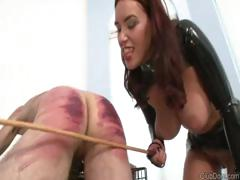 Male slave receives some training from her strict mistress tube porn video