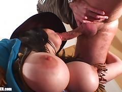 Sheriff Swallows - Big Natural Tits, Gokkun Cum Drinking tube porn video