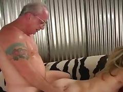 young blonde with old fart tube porn video
