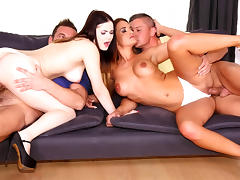 Sabby & Victor Solo & Nicole Vice & Nana in Red hot - EuroSexParties tube porn video