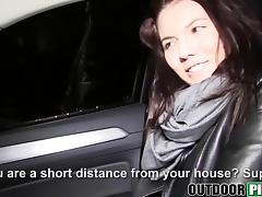 Pretty big titted chick Vanessa Decker fucked in the public tube porn video
