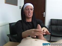 Real brit nun punishing hard cock tube porn video