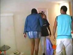 Ebony threesome with a burning ladyboy tube porn video