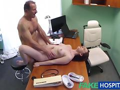 FakeHospital Patient has a pussy check up tube porn video