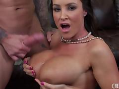 Sizzling MILF Lisa Ann gets naked and takes a load on her tits tube porn video