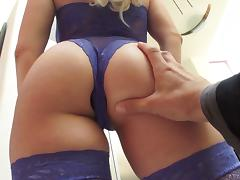 Lace lingerie beauty fucked in her tight booty by a big cock tube porn video