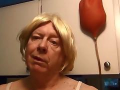 Naughty gigi drinks a slime enema tube porn video