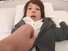 Japanese Woman Puts on a Grey Pants Color Fetish tube porn video