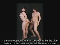 Bizarre Japanese futanari subtitled instructional clip tube porn video