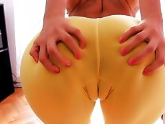 Most Amazing Cameltoe Latina! Big Ass! Perfect Natural Tits! tube porn video