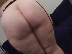Chubby Blonde Taking On 2 Dicks tube porn video