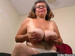 There is something about grandma and her nylons tube porn video