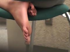Candid feet and soles at california college library tube porn video