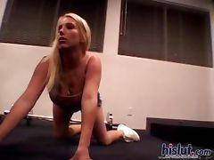 This slut gives a blowjob tube porn video