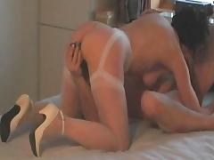 Nice side view of her sucking tube porn video