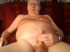 Grandpa stroke and cum on cam 2 tube porn video