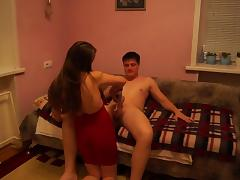 Russian amateur couple plaing with whipped cream and fucks tube porn video