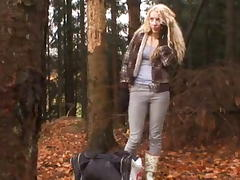 Hitchhiker fucked in the woods tube porn video