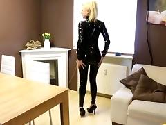 Sexy in Black Catsuit tube porn video