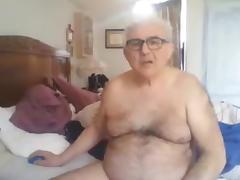 Grandpa show and stroke tube porn video