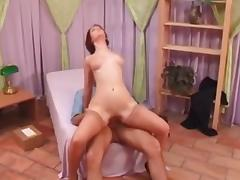French milf fucks the delivery boy tube porn video
