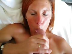 Cute Danish redhead at home sucking tube porn video