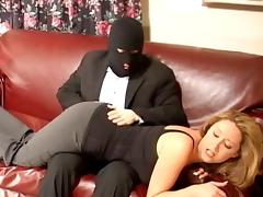Robber spanks and finger fucks Mature lady tube porn video
